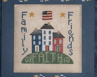 INSTANT DOWNLOAD WAXiNG MOoN DESiGNS Faith Family Friends PDF counted cross stitch patterns at thecottageneedle.com