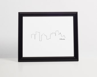 Skyline Printable Wall Art - Atlanta Georgia - Wall Art - 8x10 instant download