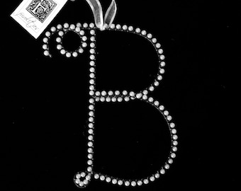B Pearl Wire Letter B Monogram (All Letters Available)