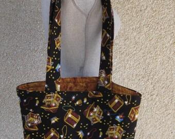 Tote bag, Shopping Bag, Black Bag, Market bag, Carry Bag, Cotton Carry Bag, Quilted bag, Weekender Bag, Carry on Bag, Reversible Bag