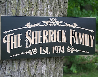 Personalized Wood Sign, Wedding Established Sign, Rustic Wood Sign, Wooden Signs, Lake House Decor, Benchmark Custom Signs, Maple TV