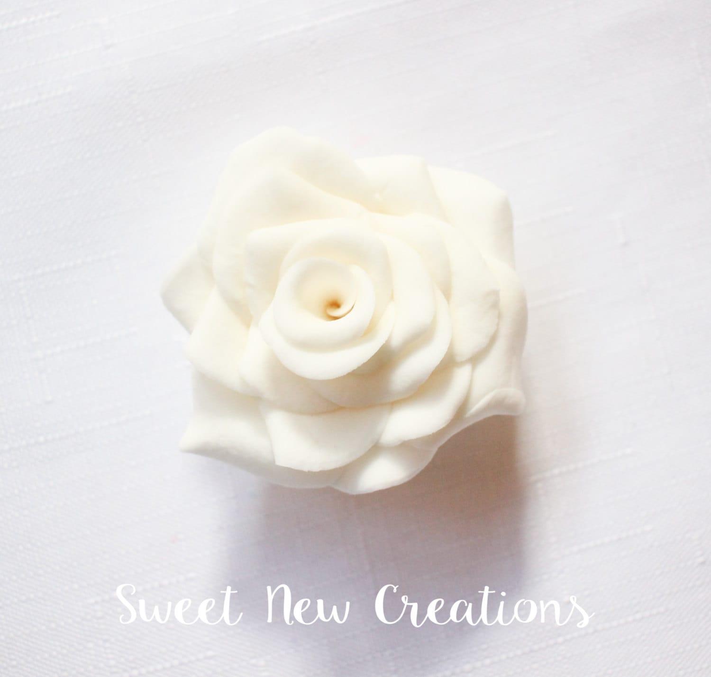 White rose fondant flowers 2 white wedding cake flowers zoom mightylinksfo