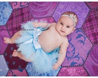 Blue Tutu   Baby Girls Tutu Skirt   Newborn Tutu