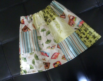 Childrens SUSHI patchwork Skirt 3-4 T