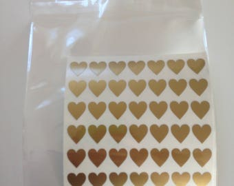84 1cm Gold Heart Stickers for Planners MAMBI Reward Charts Good Behaviour Card Crafting Crafts