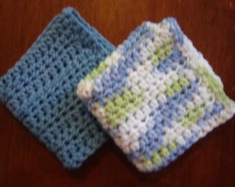 Crochet Dishcloth Pair-Sea Mist Pair (Pair 6)