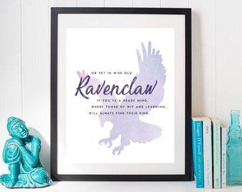 Harry Potter 'Ravenclaw' Printable INSTANT DOWNLOAD