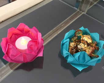 Origami Lotus Flower Decorations