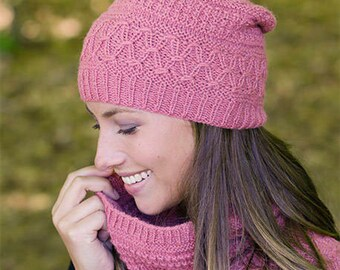 Handmade Wool knitted neck warmer and beanie hat, choose your color