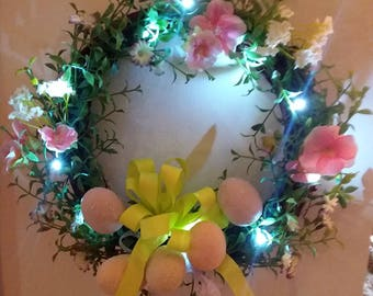 Vintage Avon  Easter lighted wreath