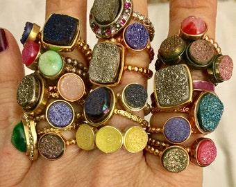 Super sale!!! Dara Ettinger Mystery Druzy Stackable Rings Biggest Sale Ever. Please Read Description for details