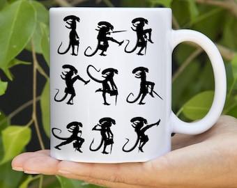 Ceramic Coffee Mug - Aliens - Monty Python - Ministry of Silly Walks - 11oz