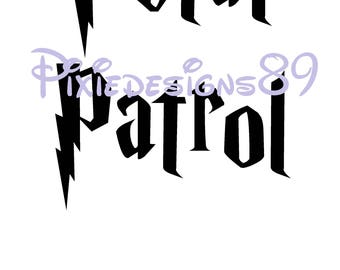Harry Potter 'Petal Patrol'  - Iron On T-Shirt Transfer – INSTANT DOWNLOAD