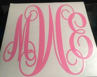 10 inch Vine Monogram Decal