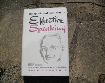 Vintage Book The Quick and Easy Way to Effective Speaking by Dale Carnegie