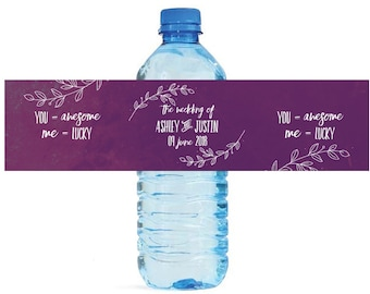 The Wedding of Awesome Lucky Water Bottle Labels Great for Engagement Bridal Shower Wedding Anniversary Birthday Party