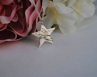 Star Jewellery, Silver Star Necklace, Star Necklace, Star Pendant, Charm Necklace, Congratulations Gift, Graduation Gift, Bridesmaid Gift
