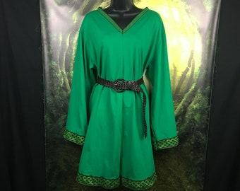 Viking Tunic - V Neckline - Long Sleeve - Viking Garb - Viking Clothing - Viking Womens Tunic - Viking Wedding Tunic - Viking Cosplay