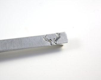 Antler Tie Bar - Antlers Tie Clip - Hidden Message - Tie Bar - Tie Clip - Deer Tie Bar Clip - Antlers Tie Bar Clip - Hunter Tie Bar Clip