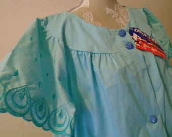 Blue House Dress  House Coat  Ameritex  Cohn-Hall-Marx Co Size 42