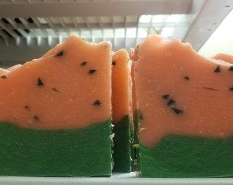 Watermelon slush handcrafted vegan soap
