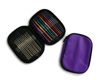 22pcs Multicolor Aluminium Crochet Needle organizer