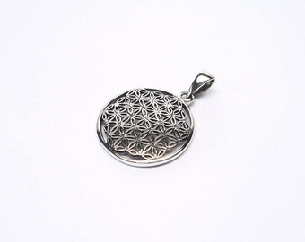 Flower of Life jewelry pendant sterling silver 925 Flower of Life