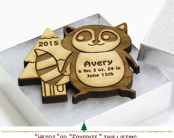 Personalized Ornament // Little Rascal Lemur Ornament Woodland Ornament // Custom Christmas Ornament Baby's First Christmas Ornament SKU#336