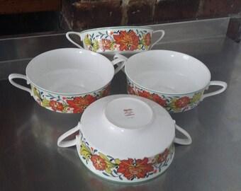 4 Spode Caribbean Retro Soup Bowls