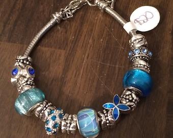 European Style Color Charm Bracelet