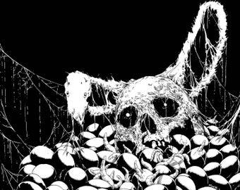Original Easter Skull Drawing