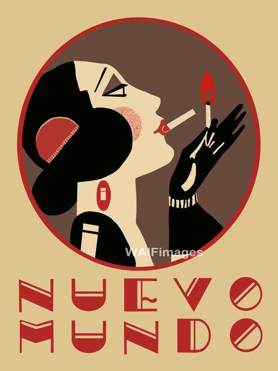 Nuevo Mundo a vintage image derived from a Spanish magazine