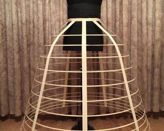 Victorian Style Cage Crinoline, Hoop Skirt, Scarlett O'Hara Crinoline Frame, Civil War, waist: 31 - 33 in