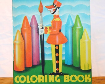 Vintage Child's Coloring Book