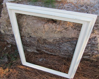 Beautiful Shabby Chic Frame, Vintage Frame, Shabby Chic Frame,  Frame, Gallery Frame, photo prop frame