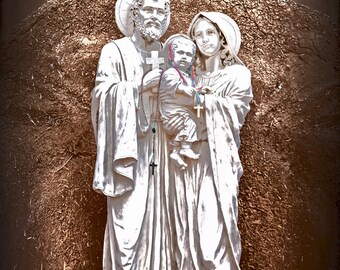 Holy Family - Statue of the Holy Family - Religious Statue - Religious Art - Fine Art Photography