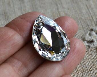 Swarovski Crystal Rhinestone 30x20mm Crystal Clear Faceted Pear Fancy Stone Model 4327
