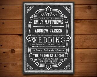 Wedding Invitation Template - Printable Wedding Invitation - Editable Wedding Template - Instant Download - Peony Collection