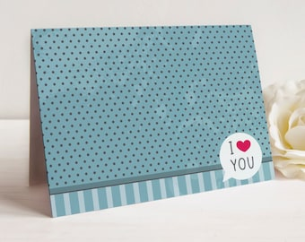 I Love You Note, Set of 10 Cards, Just Because Note