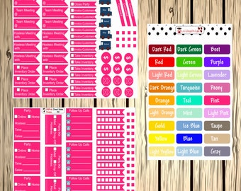 Direct Sales Consultant Set of Stickers for your Planner - two sheet set