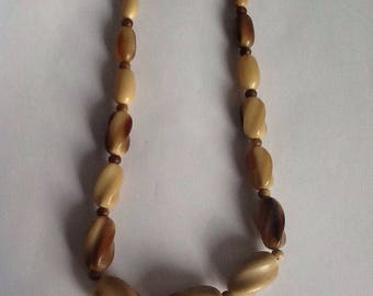Vintage antique horn necklace