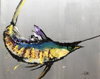 """Qunce Zeng 792 Swordfish 39x39"""""""
