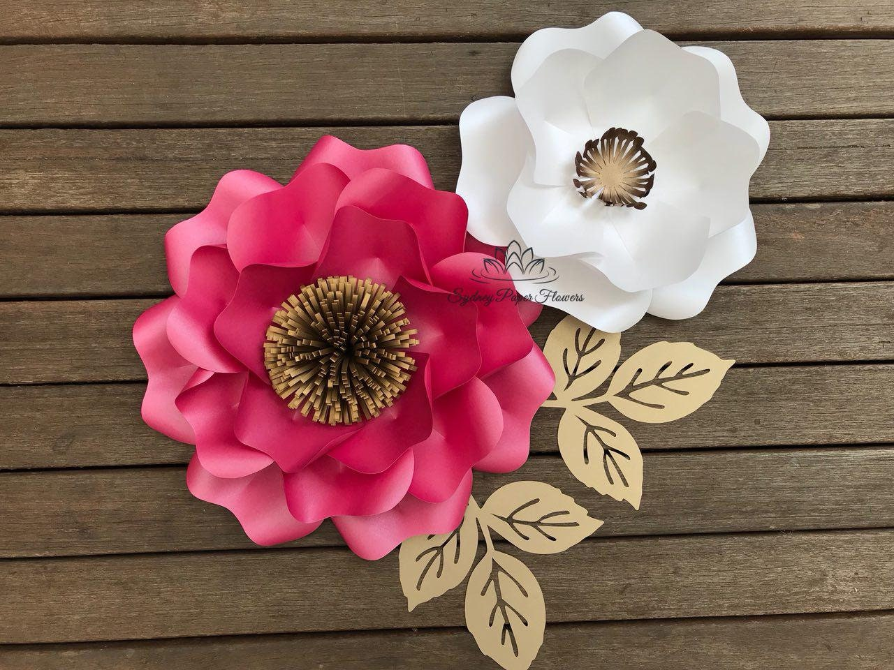 Wild Rose Paper Flower Template & Tutorial with PDF SVG/Paper