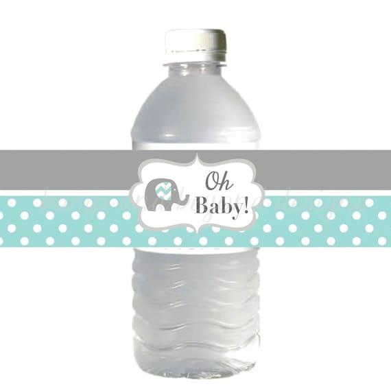 Botella De Agua Para Imprimir Etiquetas Elefante Baby Shower