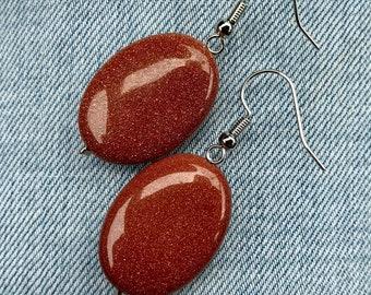 Orange dangle Earings