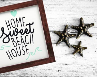 Beach Wood Decor | Rustic Home Decor | Popular Beaches Sign | Home Sweet Home Sign | Vacation Home Decor | Coastal Wall Art | Beach Sign