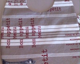towel bib cloth laminated cotton ticking