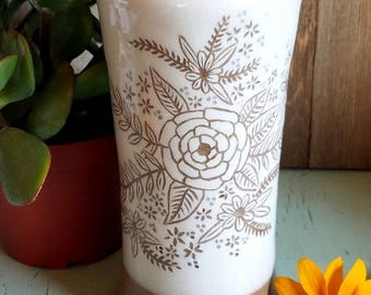 Pottery Tumbler, Stoneware Tumbler, Pottery Cup