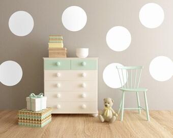 Big Polka Dot Wall Decals, Polka Dot Decals, Nursery Wall Decal, Polkadot decals, Child's Room Wall Decal, Circle Decals, Polkadots