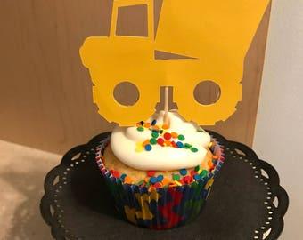 Dump Truck Cupcake Topper